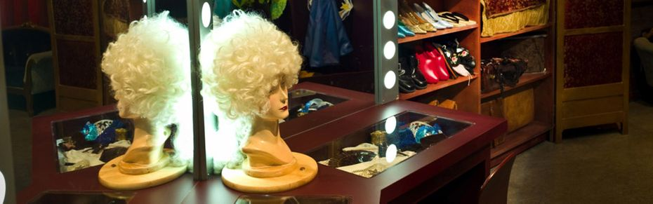 Dressing room with wig